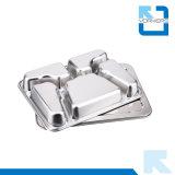 Plaque en gros de déjeuner de guindineau de compartiment de l'acier inoxydable 5