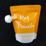 Упаковка сока носик пакет с застежкой на молнию дизайн