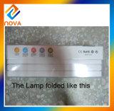 Plegable tabla del tacto de la lámpara LED con el calendario y reloj de alarma