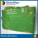 Fábrica Publicidade Custom Windscreen Mesh Fabric Printing Fence Banners