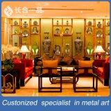 Mensola di visualizzazione classica del bronzo dell'acciaio inossidabile di disegno per la mostra