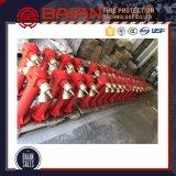 Fornecedor Ductile da boca de incêndio de incêndio do ferro de BS750 Dn100