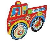 Venta caliente de Navidad reloj de madera calendario juguete para niños y niños