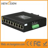 8 Gigabit Puertos Doble entrada de alimentación Industrial Ethernet Conmutador de red