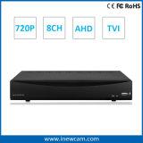 Ahd/Tviのための720p 8CH P2p CCTV DVRのレコーダー