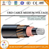 Câble d'alimentation coté Mv105 de l'UL Al/XLPE/PVC1000 Kcmil Urd