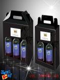 인쇄 색깔 휴대용 물결 모양 편평한 포도주 포장 상자 (M00248)