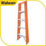 Oranje Kleur met Plastic Bovenkant een Ladder van de Stap van de Glasvezel van het Frame