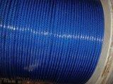 青く新しいPVCによって塗られる電流を通された鋼線ロープ6X19 + FC/Iws/Iwrc