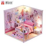 Дом куклы игрушки 2017 симпатичная DIY розовая деревянная для малышей
