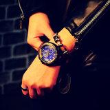 Reloj de cuero unisex del deporte del reloj de manera de 334 de Yazole de la venda hombres del cuarzo