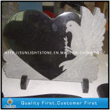 Headstone гранита изготовленный на заказ черного строения материальный с высекать руки