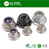 Contraporca de nylon da flange Hex do aço inoxidável de A2 A4 (SS304 SS316)