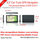 Hot Sale 4.3inch HD Definition Vehnicle Car Truck Navegação GPS com 128MB DDR; Transmissor FM de 4GB, GPS Navigator G-4311