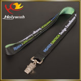 Polyester Strap Fashion Cardholder Lanyards tissés pour badges