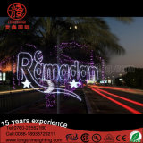Outdoor LED Star Moon Light Ramadan Pole Street Light Decoration