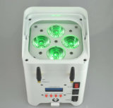 LED 동위 빛 무선 & WiFi를 위한 Yuelight 4PCS*10W 6in1 재충전 전지