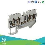 Conetor elétrico do bloco terminal Jut3-1.5/2-2 Dinrail da mola