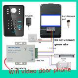 Video campanello del telefono del portello di WiFi con la funzione del citofono di parola d'accesso di RFID