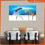 El panel ULTRAVIOLETA de salto del diseño del delfín precio caliente de las ventas del mejor para la pintura casera de la decoración
