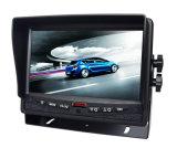 3PCSカメラの背面図システムが付いている7インチのデジタルモニタ