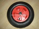 4.80/4.00-8 Roda de borracha pneumática com borda plástica