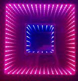 Espejo de alquiler 3D LED Dance Floor del túnel del tiempo de Pasillo del club del disco de la boda para la venta