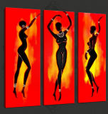 カスタム熱い販売の女の子の美映像のセクシーな女性の写真の油絵のキャンバスプリント