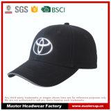 Gorra de béisbol negra del algodón con TPU grabada
