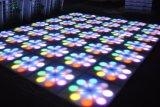 Fiore Dance Floor del fiore 60*60cm RGB LED di controllo di illuminazione DMX del DJ della fase di cerimonia nuziale