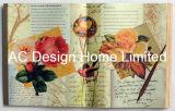 Diseño de Flor de antigüedades de cuero de PU/madera MDF de forma de libro de arte de pared