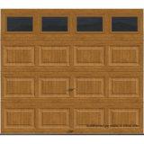 Дверь гаража Crossbuck собрания кучера Clopay изолированная Intellicore с окном Rec13