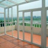 Porta branca do vidro da entrada do PVC da cor