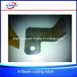 Da estaca de aço Shaped do Purlin do feixe do plasma H I U do CNC maquinaria lidando de furo de chanfradura