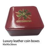 Boîte de pièces de monnaie, Classic Coin Box, boîtes de pièces de monnaie en cuir de luxe