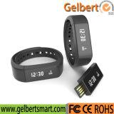 電話のためのBluetoothのスマートな腕時計を追跡するGelbertの歩数計
