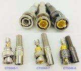 Männlicher BNC Verbinder for&#160 der schwarzen Nickel-Gold-Plated Schrauben-; CCTV (CT5046-6)