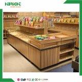 Supermarkt-hölzerne Gemüsebildschirmanzeige-Zahnstangen