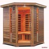 Cedro rojo canadiense de la calidad de la sauna del sitio de la sauna infrarroja mayor de la familia