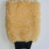 Guanto mezzo della lavata della rotella delle lane del guanto mezzo della lavata del rilievo della lavata della pelliccia della pelle di pecora