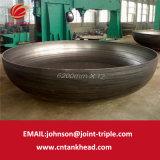 05-21 grande testa servita del acciaio al carbonio per la strumentazione DN6200mm*12mm dell'olio