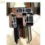 Portello di legno stoffa per tendine di alluminio di vetro di lusso di disegni moderni della doppia doppio