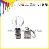 軽い照ることを用いる電球の形LED水晶USBのフラッシュ駆動機構