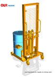 デジタルスケール1500mmの持ち上がる高さオイルドラムバンドパレットが付いている使用できる400kg容量のドラムトラック