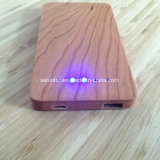 Banco de potencia de la madera 4000 mAh de batería portátil USB alimentación móvil Banco de potencia