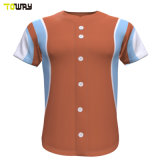 100 % polyester uniforme de Baseball jersey rayé
