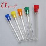 Laboratoire stérile jetable en plastique clair tube à essai avec bouchon à vis