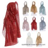 L'automne Glitter Foulards pli ordinaire Shimmer Long élastique Fashion foulard musulman Hijab ondulée s'enroule châles 25 Couleur