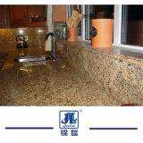 屋内装飾の台所カウンタートップのための自然な磨かれたGiallo Venezianoの花こう岩のカウンタートップ