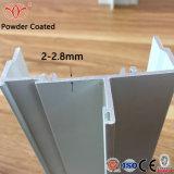 Los perfiles de aluminio con recubrimiento en polvo personalizada